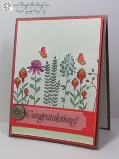 Stampin' Up! Flowering Fields Congratulations