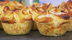 Kouign Amann ~ The Great British Baking Show . This kouign amann recipe is a Breton cake featured in The Great British Baking Show airing on PBS. Get the recipe at PBS Food. British Baking Show Recipes, British Bake Off Recipes, Baking Recipes, Scottish Recipes, Baking Ideas, Bread And Pastries, The Great British Bake Off, Chefs, Just Desserts