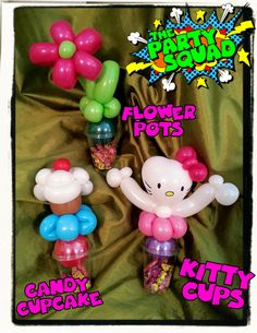 Ditzy Doodles has fallen in love with creating Candy Cups! Head over to The Party Squad for cool balloons, children's parties, face painting and more :) http://www.thepartysquad.co.uk/ http://www.facebook.com/ThePartySquadUK/