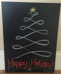 Ring in the holidays with this cute addition to your holiday decor!!! The size shown in picture above is 15.5 x 12 inches.  You can get this sign in ANY COLORS you like, simply provide me with the colors you want (see how it works section below).  **PLEASE NOTE: THIS INK IS NOT PERMANENT. WE USE CHALK INK, SO MUCH LIKE REGULAR CHALK IT CAN BE WIPED OFF SIMPLY WITH A WET CLOTH. BUT ALSO KEEP IN MIND THAT IF SIGN IS STORED SAFELY AND PROPERLY IT SHOULD REMAIN INTACT…
