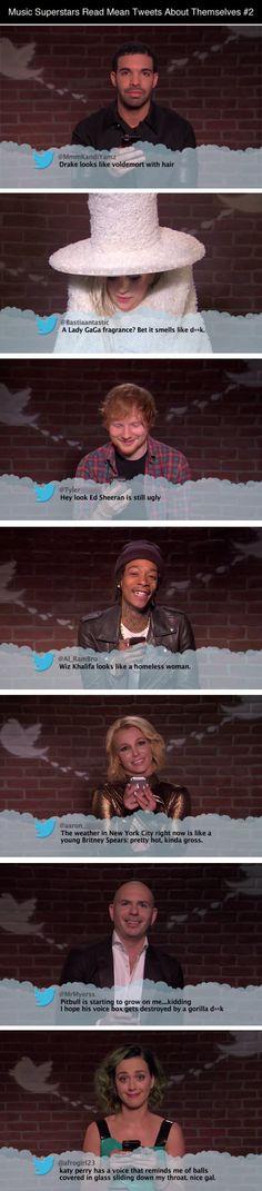 Music Superstars Read Mean Tweets