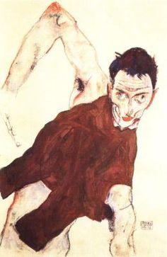 Egon Schiele:self-portrait, 1914