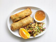 Chicken Egg Rolls with Broccoli Slaw recipe from Food Network Kitchen via Food Network