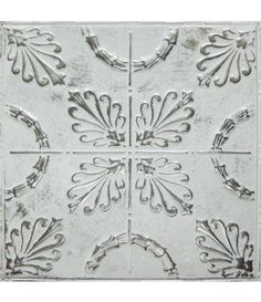 American Tin's Pattern #8 in Silver Washed White