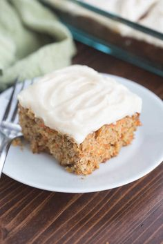 "This classic, no-nonsense carrot cake recipe is The BEST! Perfectly light and moist with a light, whipped cream cheese frosting. Carrot cake is my favorite cake! Years ago I shared my ""birthday Whipped Cream Cheese Frosting, Cake With Cream Cheese, Homemade Carrot Cake, Homemade Cakes, Carrot Cakes, Cake Recipes, Dessert Recipes, Desserts, Better Than Anything Cake"