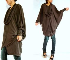 Hey, I found this really awesome Etsy listing at http://www.etsy.com/listing/109620667/boho-oversized-womens-brown-blouse-brown