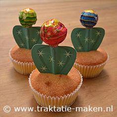 Afbeelding van de traktatie Cactus cupcake