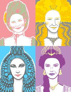 Queens Portraits by Melody Shi
