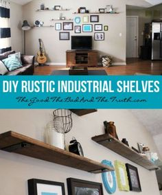 I thought I would share my most recent DIY endeavor with all of you! We had this huge gaping wall in the living room that I was struggling to fill up. We can't mount the TV on the wall because th...