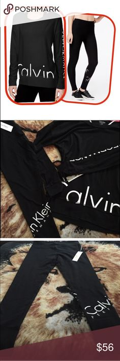 Calvin Klein performance outfit Brand new top Xs bottoms small. Top is made to fit a little loose. I have this outfit in every color, it is my go to outfit. Super comfy. Great fit! calvin klein performance Other