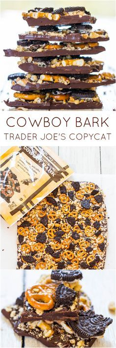 Cowboy Bark: Trader Joe's Copycat Recipe - Just like the real thing & ready in 5 minutes. Salty, sweet & supremely good!
