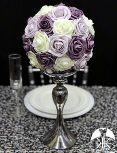 DUSTY LAVENDER, DUSTY LILAC Blush And Grey Wedding, Dusty Rose Wedding, Lilac Wedding, Peacock Wedding, Orange Wedding, Bling Wedding, Burgundy Wedding, Flower Ball Centerpiece, Lavender Centerpieces