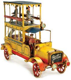 Berliet double-decker tin bus from the workshop of Parisian artisan Pinard, $10,270