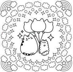 Pusheen Coloring Pages Cartoon Coloring Pages Colores Mandalas