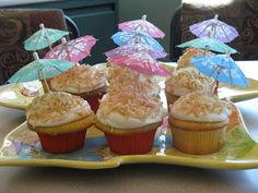 Sugar Coated Bakery: Hawaiian Themed Cupcakes