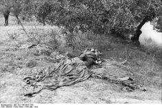 They shall not pass.  5.000 German Huns paratroopers rest in Maleme village Cemetery. The cost of the Nazi German invasion in Crete was huge.  Fallschirmjäger.net - Kondomari Massacre