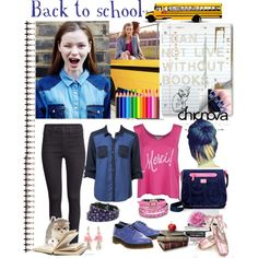 """bach to school chinova"" by latinaconestilo on Polyvore"