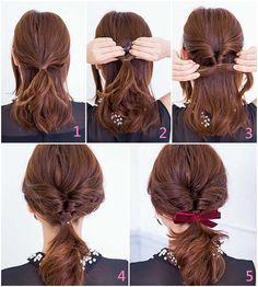 Hair Tips Video, Long Hair Video, Hair Videos, Long Ponytail Hairstyles, Fancy Hairstyles, Headband Hairstyles, Medium Hair Styles, Short Hair Styles, Fancy Ponytail