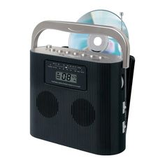 Jensen CD-470BK Portable Stereo Compact Disc Player with AM-FM Radio
