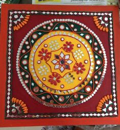 Lippan Kaam Clay Art of Gujarat : 7 Steps (with Pictures) - Instructables Clay Wall Art, Ceramic Wall Art, Mural Wall Art, Mural Painting, Murals, Ceramic Plates, Painting Tips, Watercolor Painting, Mirror Crafts