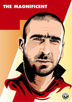 Eric Cantona, best football mind ever! Illustration by Christian Zivojinovic