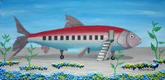 https://www.etsy.com/treasury/MTc4MzE5MjB8MjcyMjcwOTM1OQ/fish-for-black-friday Ocean Flight / Original Acrylic Painting by DobrishmanArt on Etsy, $185.00