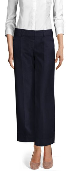 Oberon Loose fitted ankle length Dress Pants, Dress Up, Navy Blue Color, Blue Wool, Skinny Pants, Ankle Length, Business Casual, Casual Looks, Wool Blend