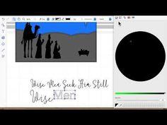 brother scan n cut tutorials 6th day Wisemen - YouTube