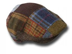 Berretto-piatto-irlandese-patchwork-tweed-cap