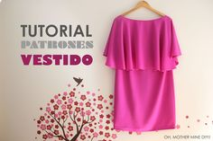 DIY Tutorial y patrones: Vestido de capa