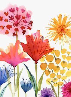 Margaret Berg Art : Illustration : florals / spring: