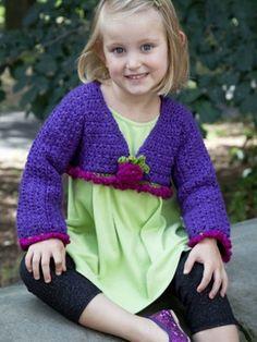 Girls crochet shrug sweater crochet knitting pinterest fancy girl top yarnspirations fandeluxe Gallery