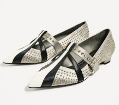 Get the must-have flats of this season! These Zara Grey Satin Studded Ballerina Flats Size US 6 Regular (M, B) are a top 10 member favorite on Tradesy. Save on yours before they're sold out! Ballerina Flats, Shoe Box, Zara, Satin, Grey, Top, Shoes, Fashion, Gray