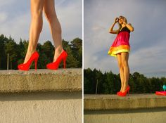 Great fluo colours. Ballerinas in fluo colours. High helles in fluo colours.Nice legs. elikshoe