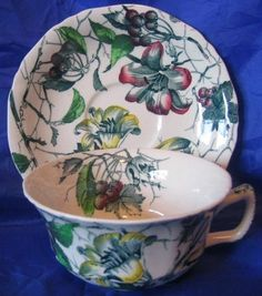Decorative Dishes - Green Toile Lily Berries Ivy Hand Paint Cup Saucer, $14.99 (http://www.decorativedishes.net/green-toile-lily-berries-ivy-hand-paint-cup-saucer/)