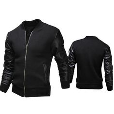 bc4d74b68c Mens Slim Letterman Jacket Mens Modern Clothing