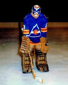 Doug Favell - Colorado Rockies Women's Hockey, Hockey World, Hockey Games, Hockey Logos, Goalie Mask, Wayne Gretzky, Good Old Times, Cool Masks, Colorado Rockies