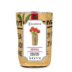 Organic Garden Flower Grow Kit - Zinnia (491576642), Herb Gardens, Garden Kits & Home Gardening | bambeco