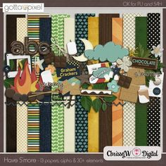 Have Smore Digital Scrapbook Page Kit at Gotta Pixel. www.gottapixel.net/