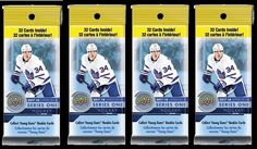 (4) 2017-18 Upper Deck Series 1 NHL Hockey Cards 32ct Retail FAT PACK LOT #UpperDeck