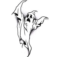 This image may contain: pic . Tattoo Sketches, Drawing Sketches, Tattoo Drawings, Art Drawings, Ghost Tattoo, 4 Tattoo, Skate Tattoo, Halloween Tattoo, Halloween Art