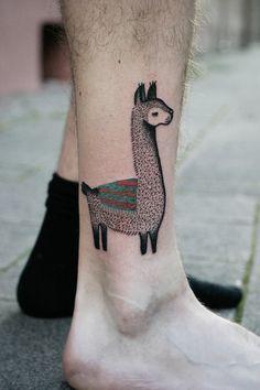 Tatuar ou não uma lhama?