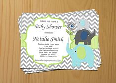 Hey, I found this really awesome Etsy listing at https://www.etsy.com/listing/182999296/boy-baby-shower-invitation-elephant-baby