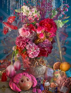 Modern Baroque still life by David LaChapelle.