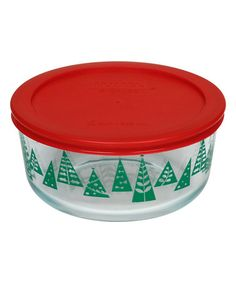 Another great find on #zulily! Red Christmas Trees 4-Cup Food Storage Container #zulilyfinds