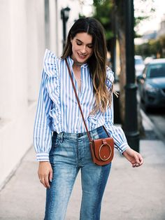 This Blogger's Entire Outfit Costs $125 (Including Her Purse) via @WhoWhatWearUK