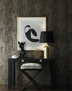 Kelly Wearstler Crescent Lake/Cream Wallpaper
