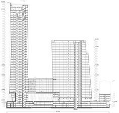Skyscraper, Multi Story Building, Floor Plans, Diagram, Architecture, Arquitetura, Skyscrapers, Architecture Illustrations, Floor Plan Drawing