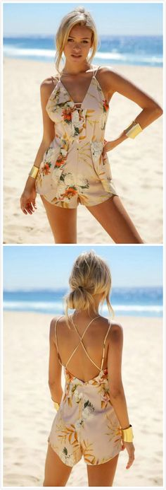 romper,floral rompers,summer outfits,beach holidays,rompers for girls