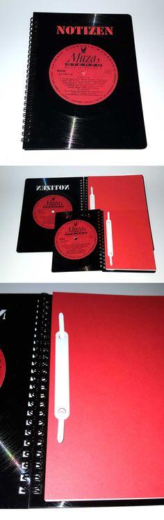 Notebook / Notizbuch LP-upcycling